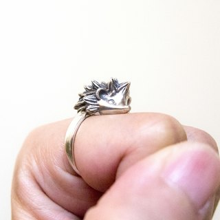 Cute Handmade Hedgehog Ring Gift For Her Him Lover Pet Loss Wife Mom Friend Christmas Birthday Anniversary Animal Jewelry by IONA SILVER