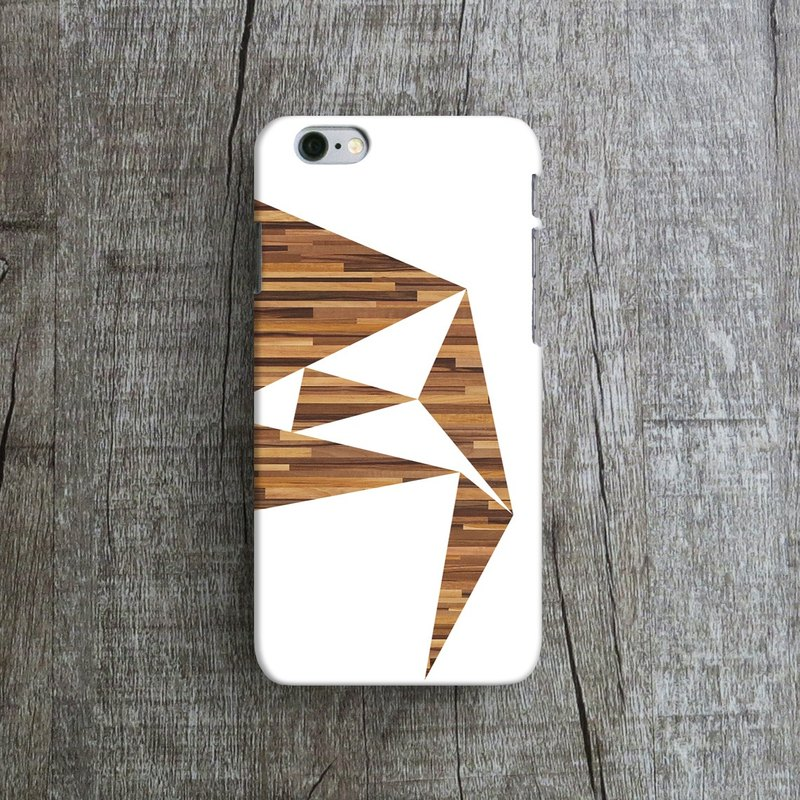 Wooden Geometric - Designer iPhone Case. Pattern iPhone Case. One Little Forest