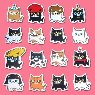 Stickers _ fat cats... small stickers 16