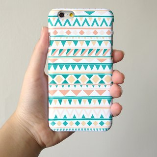 Mint Navajo Tribal Pattern 3D Full Wrap Phone Case, available for  iPhone 7, iPhone 7 Plus, iPhone 6s, iPhone 6s Plus, iPhone 5/5s, iPhone 5c, iPhone 4/4s, Samsung Galaxy S7, S7 Edge, S6 Edge Plus, S6, S6 Edge, S5 S4 S3  Samsung Galaxy Note 5, Note 4, Note