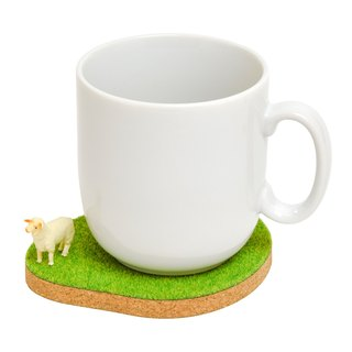 Shibaful Island Coaster  sheep / pig / cat / dog コルクコースター
