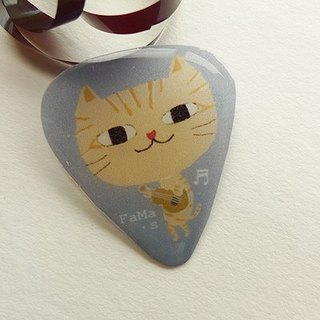 FaMa's Pick Guitar Sling Cat Band Guitarist A Orange Cat