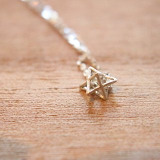 Stereo Hexagram Sterling Silver Necklace 0490 - Third Wish