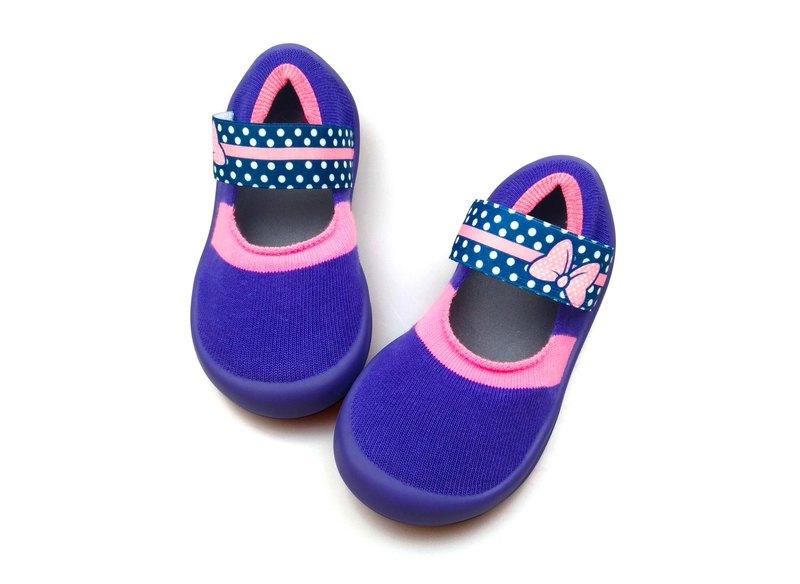feebees學步鞋/襪鞋/室內外皆可穿 - 印象派/波卡情結