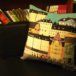 [Take a good trip. Take a rest.] Suede pillow case (Stockholm). Sweden】