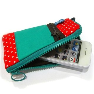 Mobile phone pocket (red dot cotton)