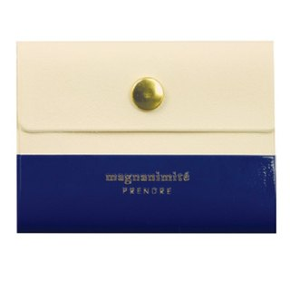 Japan [LABCLIP] Prendre Card Case Card Clip (Button) Dark Blue