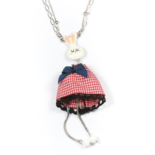 Classic necklace] [Taratata Paris, France classic red bunny manual cold enamel European style Necklace
