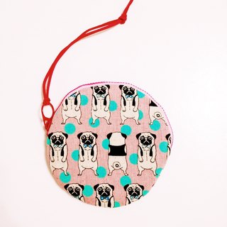 Laugh a pink fighting dog.... Small purse: Big 1. B11205-c