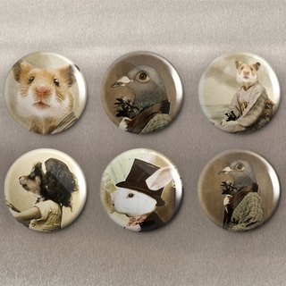 Animal anthropomorphization - magnet (6 in) / badge (6 in) / gift [Special U Design]