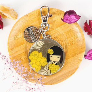 Mirror key ring -Naomi sincere and beautiful [Kimmidoll and blessing doll]