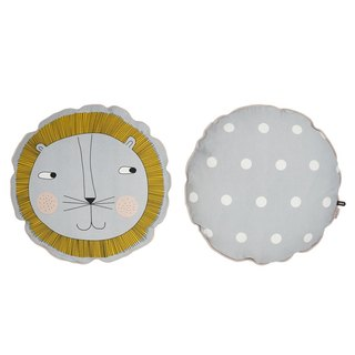 Round printing pillow - Lion | OYOY