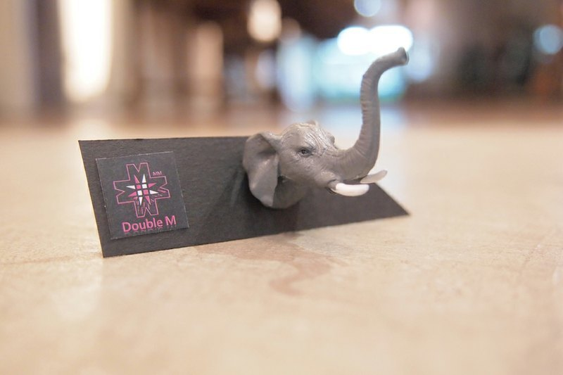 Taiwan's original Double M fantasy animal head earrings - elephant articles