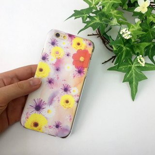 香港原創設計 春天彩色花朵圖案1 iPhone X,  iPhone 8,  iPhone 8 Plus,  iPhone 7, iPhone 7 Plus, iphone 6/6S , iphone 6/6S PLUS, Samsung Galaxy Note 7 透明手機殼
