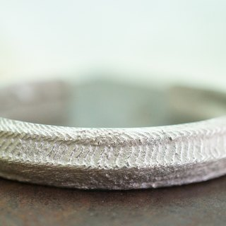 【janvierMade】Sterling Silver Wave Bracelet / Wave Cuff Bangle / 925 Sterling Silver Handmade