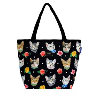 COPLAY  tote bag-fashion cats (black)