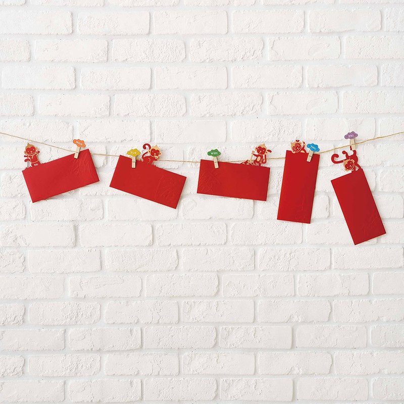 Weekly Monkey is very busy red envelope gift bag FUN ll