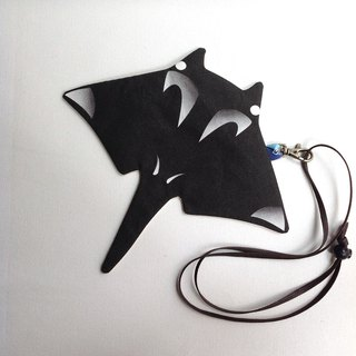 Design No.MR140 - 【Cotton Canvas】Manta Ray Purses#Black