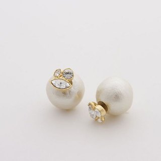 [JewCas] Cotton Backcatch earrings / JC1688