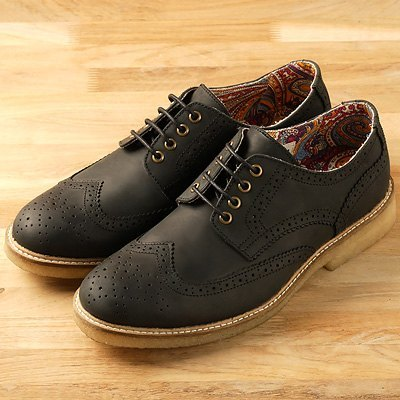 US-‧ Vanger elegant casual elegance gum wing pattern black oxfords ║Va116