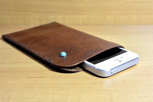 Wen Yin W & Y - textured pattern handmade leather phone sets limits