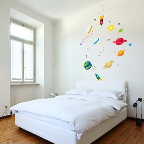 / Space World Space / color Seamless wall stickers