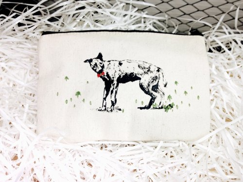 ::ty.HSU:: My Handsome, Handmade screen printing canvas small zip bag