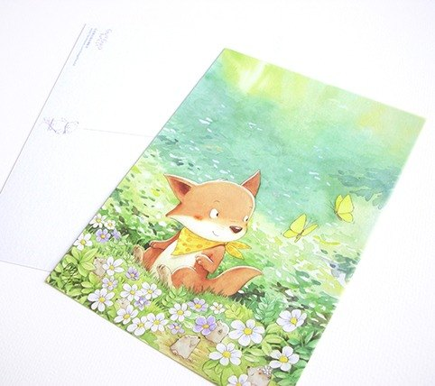 Bagels walk in the forest - spring: forest garden [postcard]