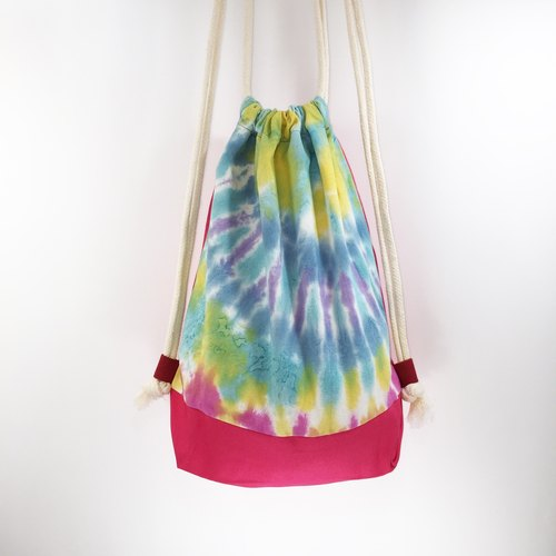 After the beam port backpack Drawstring beam port package dyed hand-dyed rendering