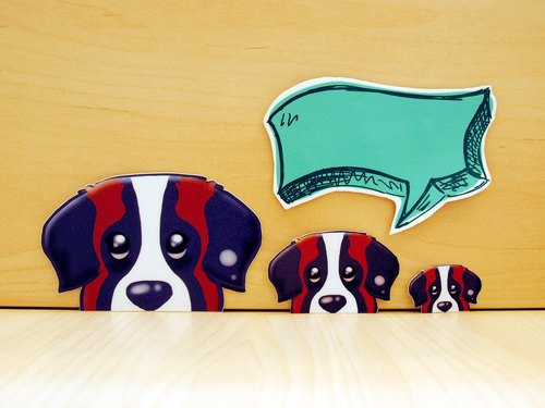 """NONCOOL‧ Cool farming"" St. Bernard WATCH ME! Stickers creative stickers"