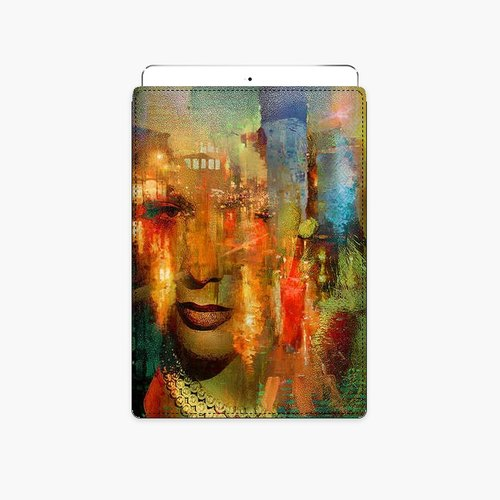 Snupped tablet protective bag - Woman lost in the immense city