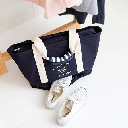 Dessin x Iconic- good time V2- large capacity double shoulder bag navy blue, ICO81944