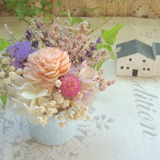 Masako Rose Lavender Cream Cake Dry Flower Eternal Flower Birthday Gift