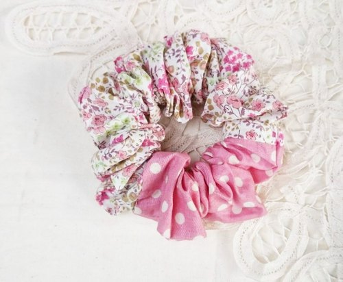 [VernaHuang hand for groceries] garden department of colorectal ring hair accessories - little pink floral