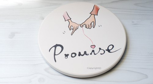 [Absorbent coaster] Promise