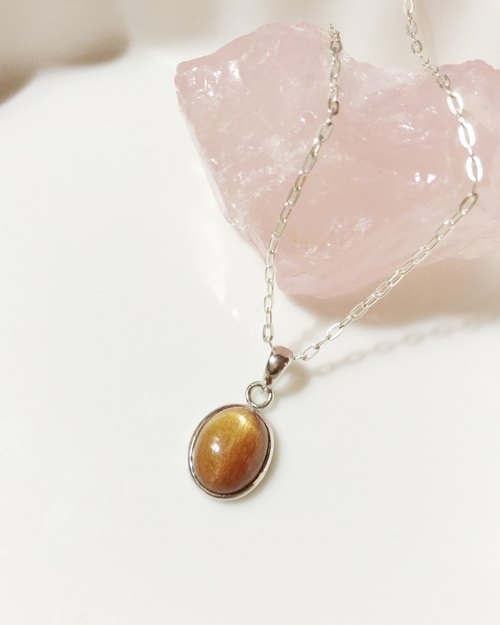 MH sterling silver necklace series _ _ see the sun Sunstone (only one real product shot)