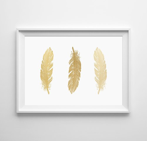 feathers (yellow) Customizable Hanging Poster
