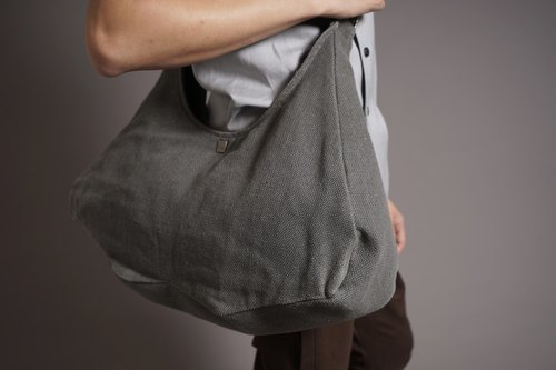 U Adjustable backpack bag big mouth _ gray