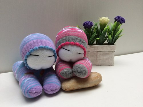 Kobayashi ~ Baby Q version even -C101 purple Mei child one pair (socks doll)