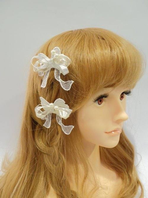 Super cute three-dimensional bow hair pitchfork -Lisa-Snail Design