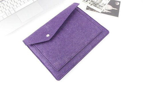 Genuine pure handmade purple felt Microsoft computer protective cover blanket sets of laptop bag Body Laptop (can be tailored) - ZMY067PUSP2