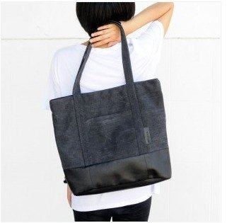 U-PICK original product life PU canvas bag - shoulder bag brown / black original hand carry a large bag