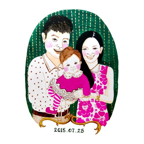 Sue Zheng Art studio custom portrait / Portrait - Multiplayer - Family Warm Videos