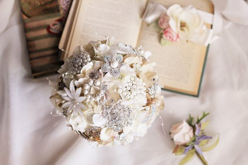 Simulation flower bouquet jewelry [series] Rhinestone / Crystal / Pearl