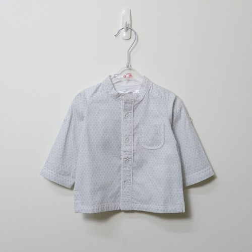 TroiZenfants thin gray light and water point long shirt