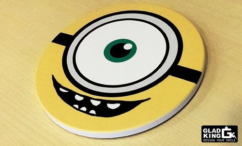 Exclusive design ★ ★ GLAD KING mud horse alpaca Despicable Me Minions Popeye - ceramic absorbent coasters
