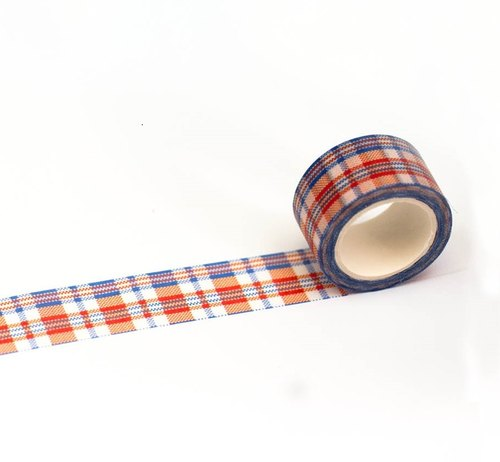 Hong Kong Masking Tape - Hong Kong Series - Red White Blue Scarf Red