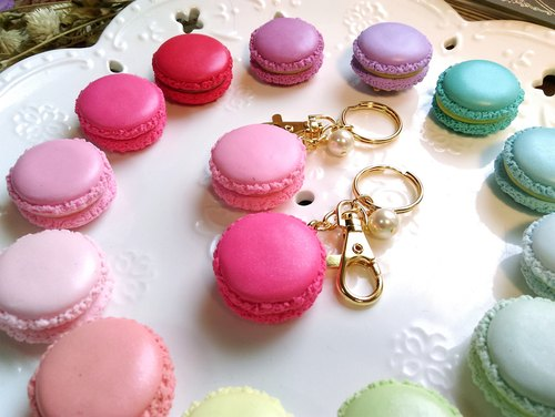 {Lady Park}. Macaron macaroon sweet pearl pendant ornaments, key rings dual-use. Wedding gifts small things for Industry and Commerce. {give away. Containing box packaging}
