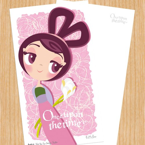 Sell ​​heads Princess Series postcard - Mulan Mulan