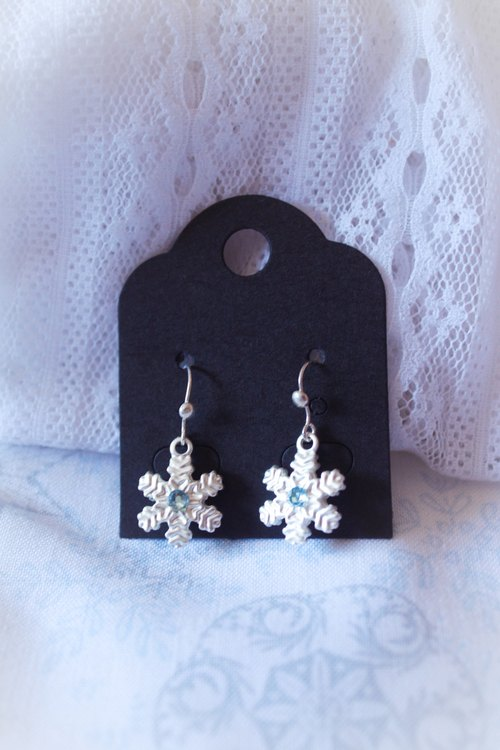 *Mi Luna Story*snowflake crystal ear hook snowflake / Christmas / temperament